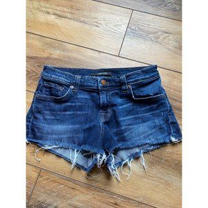 JBRAND Dark Wash Denim Cut Off Shorts 25